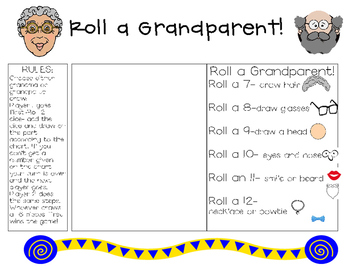 Game for Grandparents Day-Roll a Grandparent