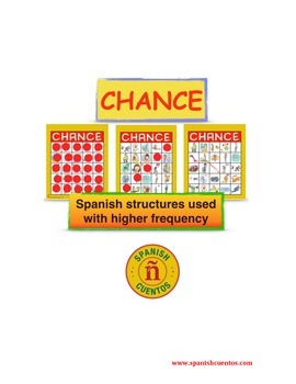 Game for Spanish class: ¡Chance! - Structures used with Higher Frequency