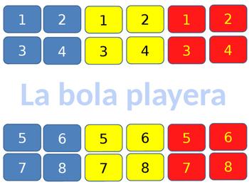 Game- juego - la bola playera to review family relationships