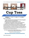 Game of Chance: Cup Toss-Probability Game of Three