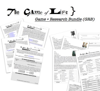 Game of Life - GAME + RESEARCH BUNDLE (Full year supplemental curriculum!)