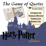 Game of Quotes: Harry Potter Edition