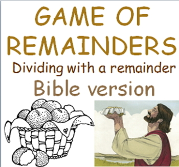 Game of Remainders Math division Freebie