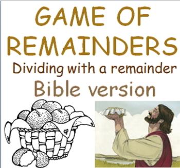 Game of Remainders Math division Freebie