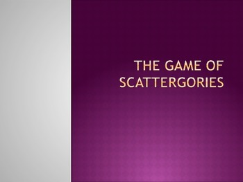 Game of Scattergories