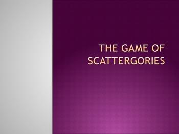 Game of Scattergories