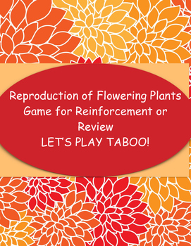 Game of Taboo for Reproduction of Flowering Plants