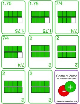 Game of Zeroes - An Arithmetic Card Game