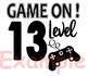 Game on 13 Level Silhouette SVG ClipArt controller gamer gaming game over 885S