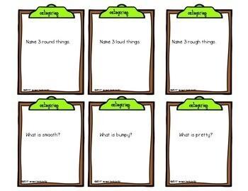 Categorize Game Cards for Language Speech Therapy
