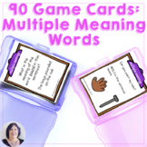 Game Cards for Language Multiple Meaning Words for Speech Therapy