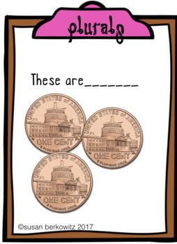 Game or Task Cards for Language: Plural Nouns  Speech Therapy Special Education