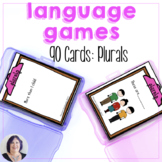 Plural Nouns Game or Task Cards for Speech Language Therapy Special Education