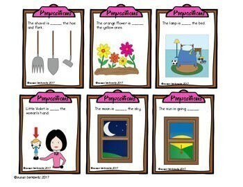 Game Cards for Language Prepositions  for Speech Therapy Special Education