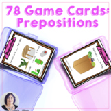 Game Cards for Language Prepositions  for Speech Therapy S