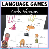 Game or Task Cards for Language: Synonyms Antonyms Speech