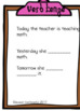 Game or Task Cards for Language: Verb Tenses  Speech Thera