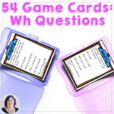 Answering Wh Questions Game & Task Cards for Speech Language Therapy