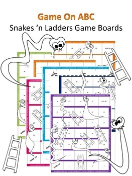 GameOnABC 3 free Snakes 'n Ladders Game Boards