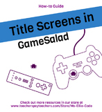 GameSalad Add a Title Scene - How To Guide