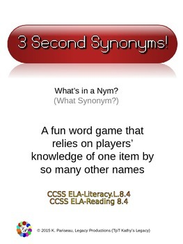Game_Synonyms What's in a Nym (What Synonym)