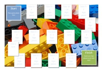 Gameboard for Addition Doubles Using Lego