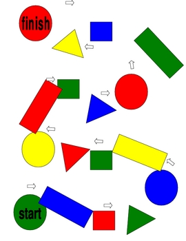 Gameboard for shape and color recognition