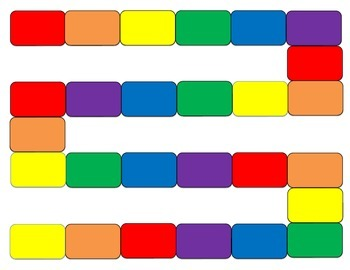 Game boards - Primary Colors