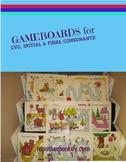 Ten Gameboards for Teaching CVC, Initial, and Final Consonants