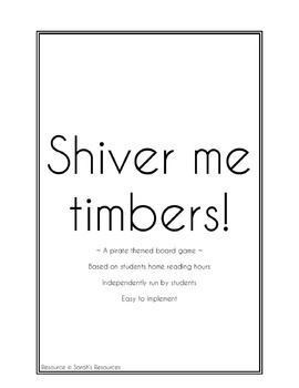 Classroom Home Reading Board Game - Shiver Me Timbers!