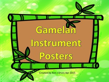 Gamelan Musical Instrument Posters