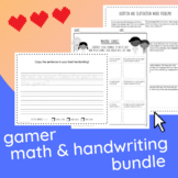 Gamer Bundle: Handwriting Practice, Money Math, and Additi