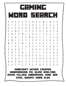 Gamer's Word Search