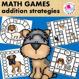Games Addition Facts Strategies with Dog Theme