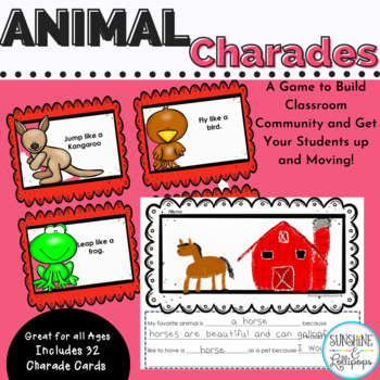 Animal Charades Brain Breaks or a Fun Game Dollar Deal