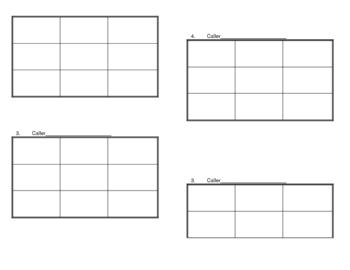 Games - Blank Tic-Tac-Toe Grid