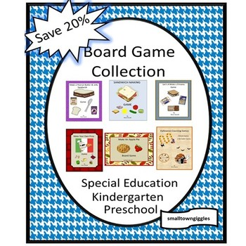 Board Games Fine Motor Skill  P-k, P, Math Centers Special Education Autism