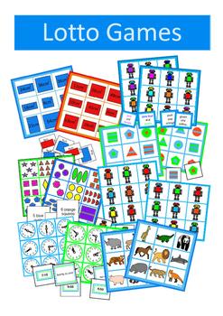 Autism Turn Taking Games BUNDLE , Memory Pairs, Dominoes, Bingo