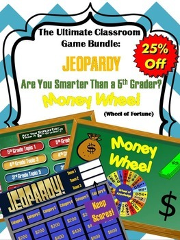 Games Bundle: Jeopardy Template, Money Wheel, Are you Smar