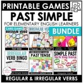Verb Games Bundle: Past Simple Regular and Irregular Verbs