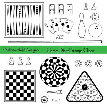 Games Clip Art Black Outline Clipart