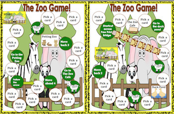 Math and Grammar  The Zoo Game  Grades 1 - 3