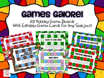 Games Galore! 25 Editable Holiday Games for Any Subject