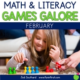 First Grade Math & Literacy Games for February