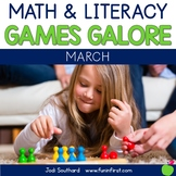 First Grade Math & Literacy Games for March
