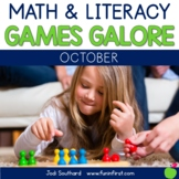 First Grade Math & Literacy Games for October