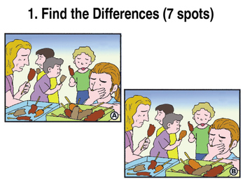 Games/Puzzles: PowerPoint-Find the Differences & Find the Same Images