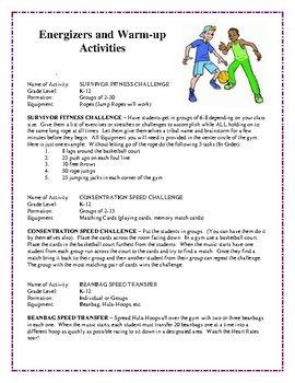 Games That Keep Students Going and Going, Physical Education Activities