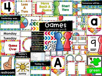 Games Theme Decor {Expansion Pack}