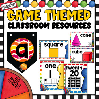 Games Theme Decor Set   with Editable Pages  Board Games
